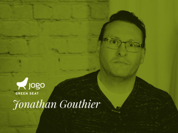 Jonathan Gouthier in the Green Seat