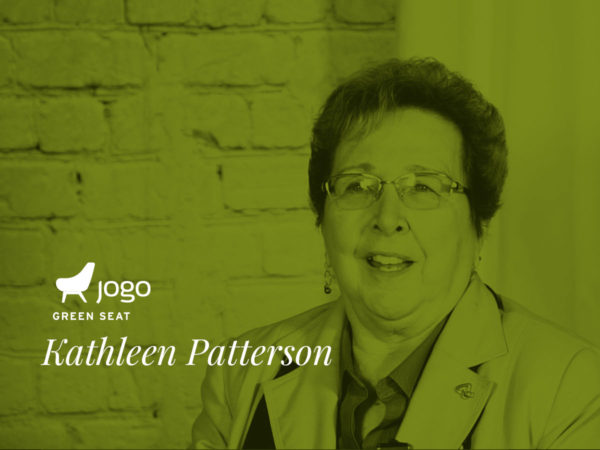 Kathleen Patterson in the JoGo Green Seat